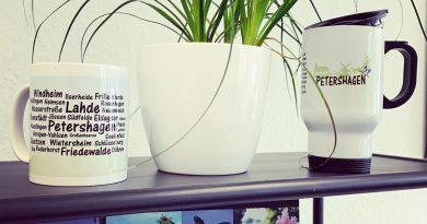 Thermobecher und Tasse für Petershagen