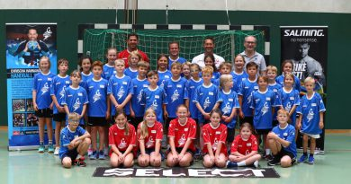 Handball-Schule mit Ex-Profi Chrischa Hannawald in Lahde