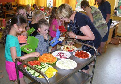 Gesundes Pausenfrühstück in der Grundschule Windheim