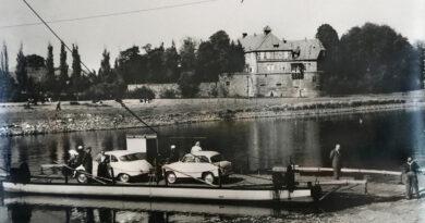 Ein Blick zurück: Weserfähre Petershagen