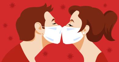 Mit Mundschutz kann man nicht knuutschen